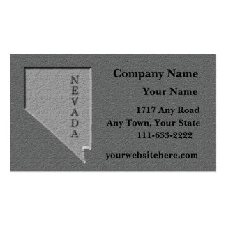 Nevada State  Business card  carved stone look