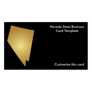 Nevada State Business Card Metallic Gold