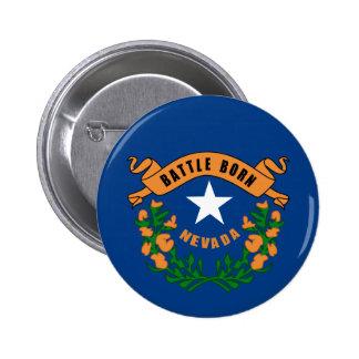 Nevada State Flag 2 Inch Round Button