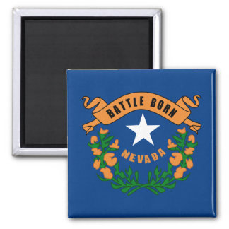 Nevada State Flag 2 Inch Square Magnet