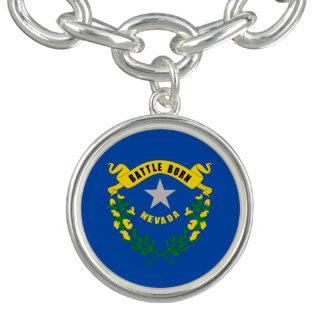 Nevada State Flag Charm Bracelet