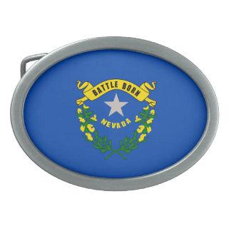 Nevada State Flag Design Oval Belt Buckle