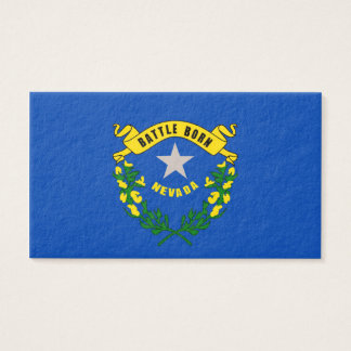Nevada State Flag Design Business Card
