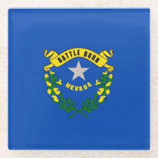 Nevada State Flag Design Decor Glass Coaster