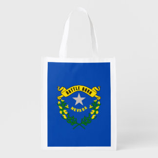 Nevada State Flag Design Grocery Bag
