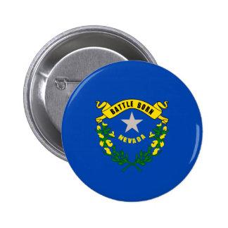 Nevada State Flag Design Pinback Button