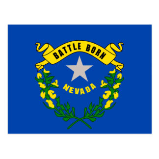 Nevada State Flag Design Postcard