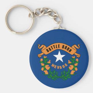 Nevada State Flag Keychain