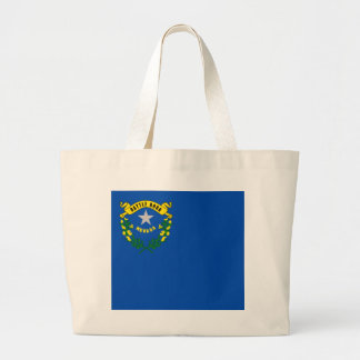 Nevada State Flag Large Tote Bag