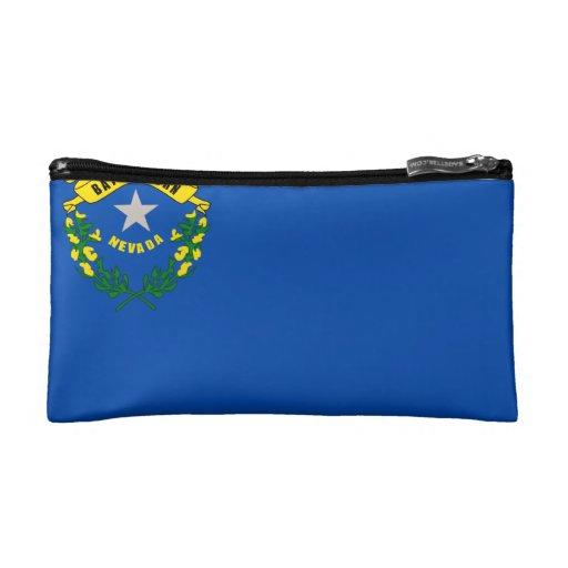 Nevada state flag makeup bag