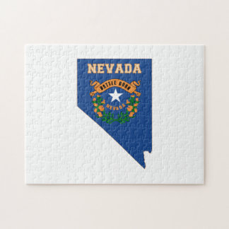 Nevada State Flag Map Jigsaw Puzzle