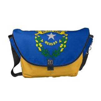Nevada State Flag Rickshaw Messenger Bag