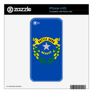 Nevada State Flag Skin For iPhone 4