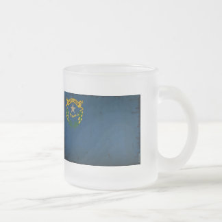 Nevada State Flag VINTAGE.png 10 Oz Frosted Glass Coffee Mug