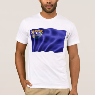 Nevada State Flag Waving T-Shirt