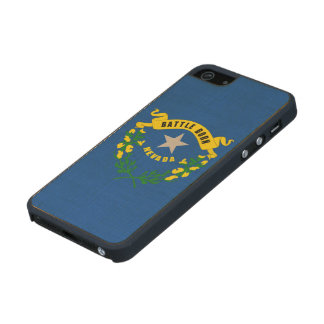 Nevada State Flag Wood iPhone SE/5/5s Case