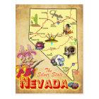 Nevada State Map Postcard