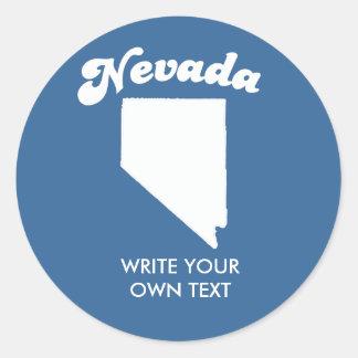 NEVADA STATE MOTTO T-SHIRT T-shirt Classic Round Sticker