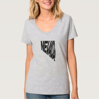 Nevada State Name Word Art Black Women's T-Shirt