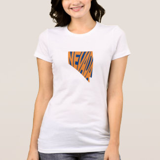Nevada State Name Word Art Orange Women's T-Shirt