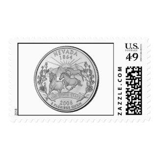 Nevada State Quarter Postage Stamp
