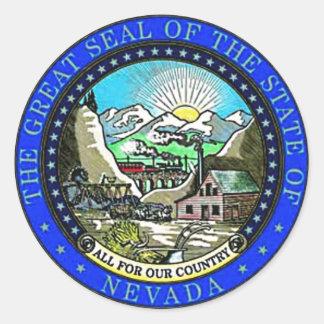 Nevada State Seal Classic Round Sticker