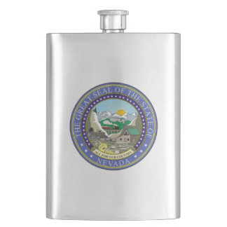 Nevada State Seal Hip Flask
