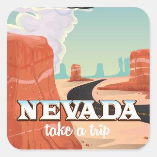 Nevada State vintage travel poster Square Sticker