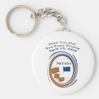 Nevada Tax Day Tea Party Protest Keychain