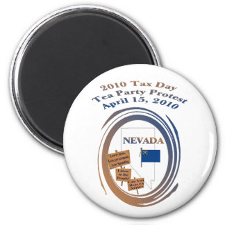Nevada Tax Day Tea Party Protest Magnet