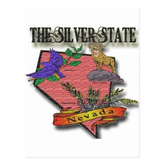 Nevada The Silver State Sagebush Bighorn Bluebird Postcards