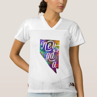 Nevada U.S. State in watercolor text cut out