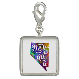 Nevada US State in watercolor text cut out Dijes