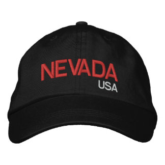 Nevada* USA Black Hat Embroidered Hat