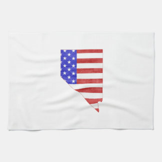 Nevada USA flag silhouette state map Towels