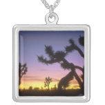 NEVADA. USA. Joshua trees Yucca brevifolia) Square Pendant Necklace