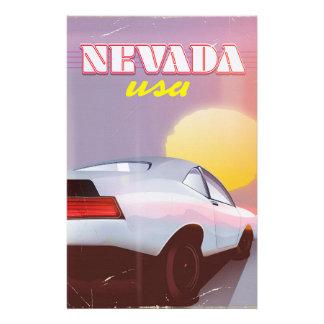 Nevada USA Setting sun sports car Stationery