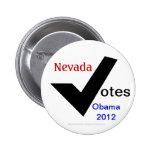 Nevada vota a Obama 2012 Pins