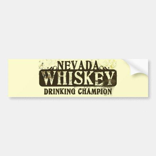 Nevada Whiskey Drinking Champion Car Bumper Sticker