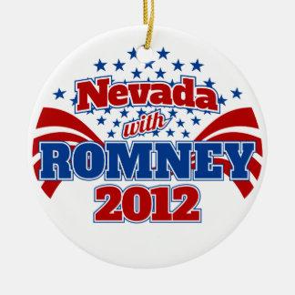 Nevada with Romney 2012 Ceramic Ornament