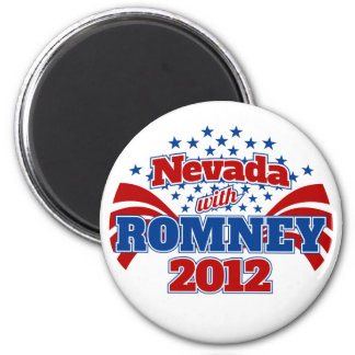 Nevada with Romney 2012 2 Inch Round Magnet