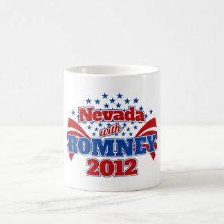 Nevada with Romney 2012 Classic White Coffee Mug