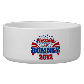 Nevada with Romney 2012 Pet Food Bowls