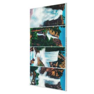 Nevada, Yosemite, Vernal, and Bridal Veil Falls Canvas Print