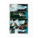 Nevada, Yosemite, Vernal, and Bridal Veil Falls Postcard