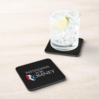 Nevadans for Romney -.png Beverage Coasters