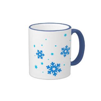 nevadas del copo de nieve tazas de café