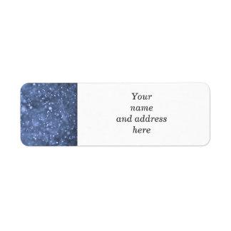Nevadas en azul etiqueta de remitente