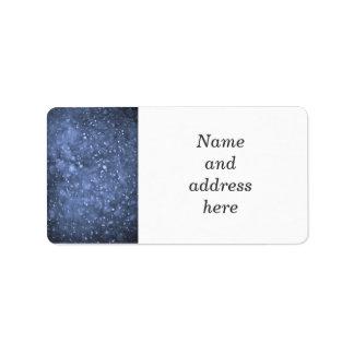 Nevadas en azul etiquetas de dirección