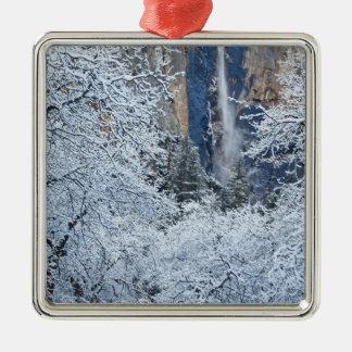 Nevadas frescas en los árboles debajo de Bridalvei Ornamento Para Arbol De Navidad